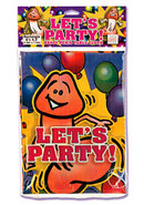 Lets Party Happy Penis Table Cloth Rectangle