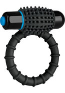 Optimale Silicone Vibrating Cock Ring With Bullet - Black