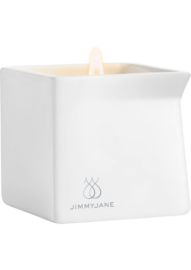 Jimmyjane Afterglow Natural Massage Oil Candle Cucumber Water 4.5 Ounce